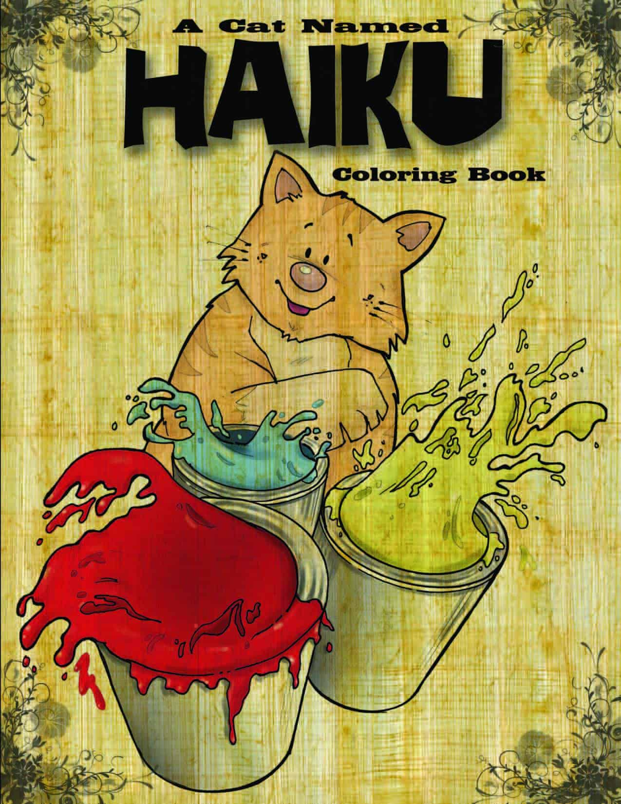 A Cat Named Haiku Coloring Book