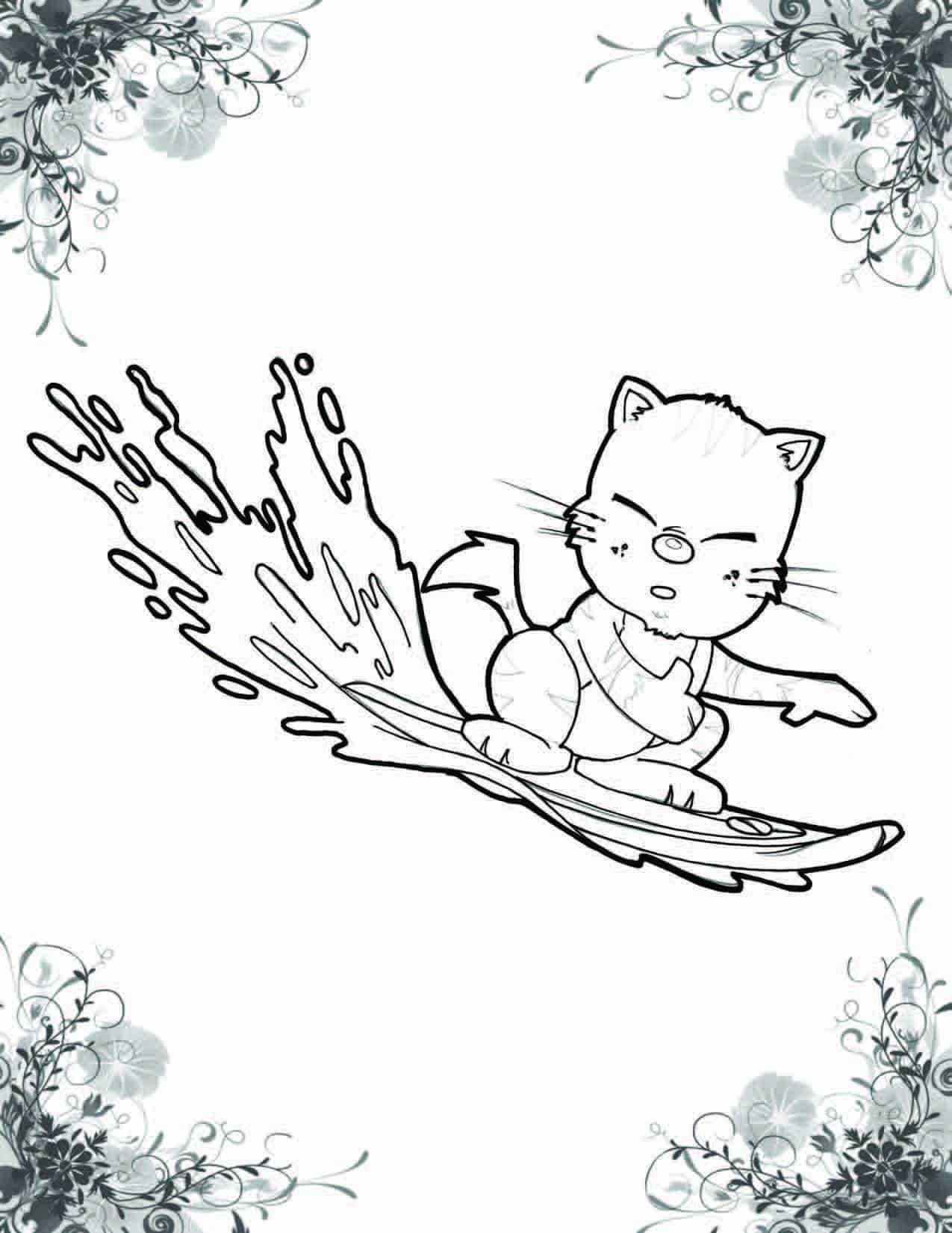 A Cat Named Haiku Coloring Book 7
